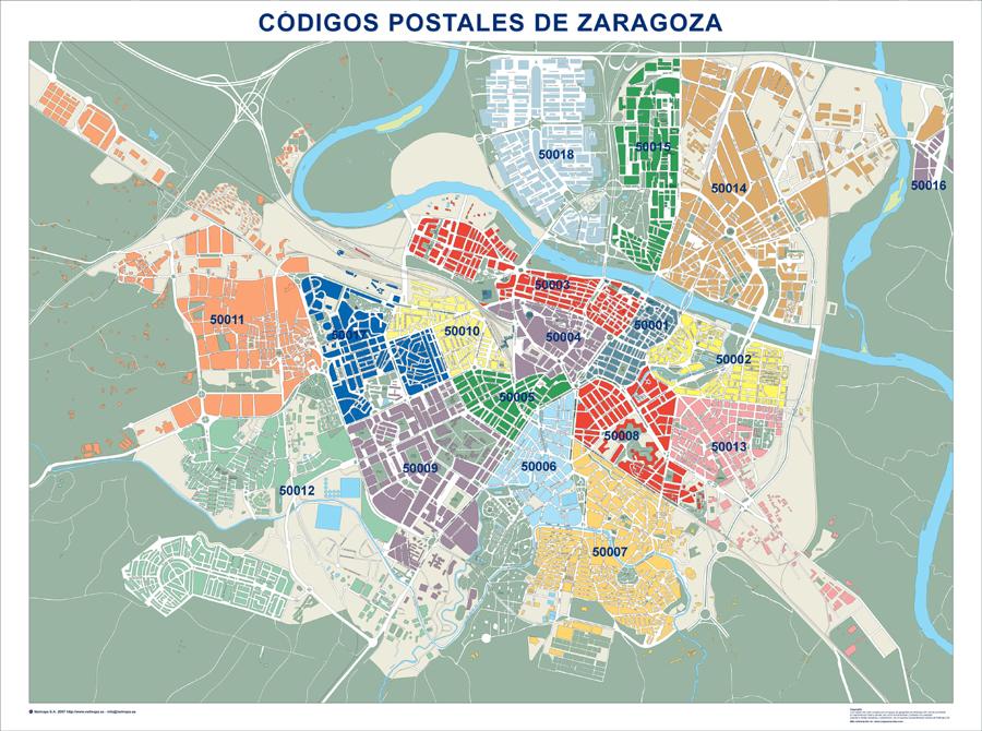 Mapa de distritos postales ingleszaragoza for Mapa de codigos postales de madrid capital